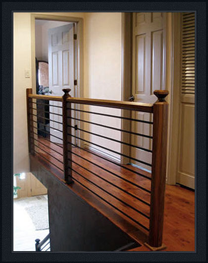 Wynn Interiors - Niwot Ranch - Hall with stair railing