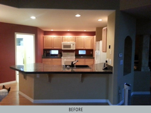 Kitchen before remodel by Wynn Interiors