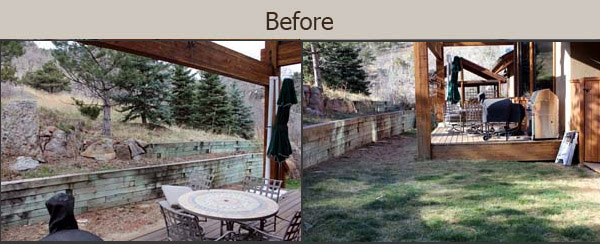 Outdoor kitchen before remodel